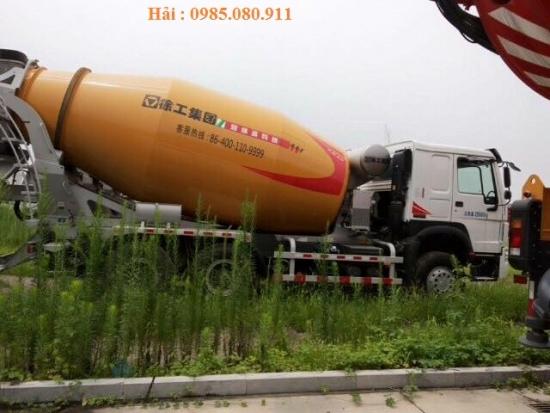 Bán xe trộn bê tông HOWO thùng trộn XCMG 12m3 động cơ 371